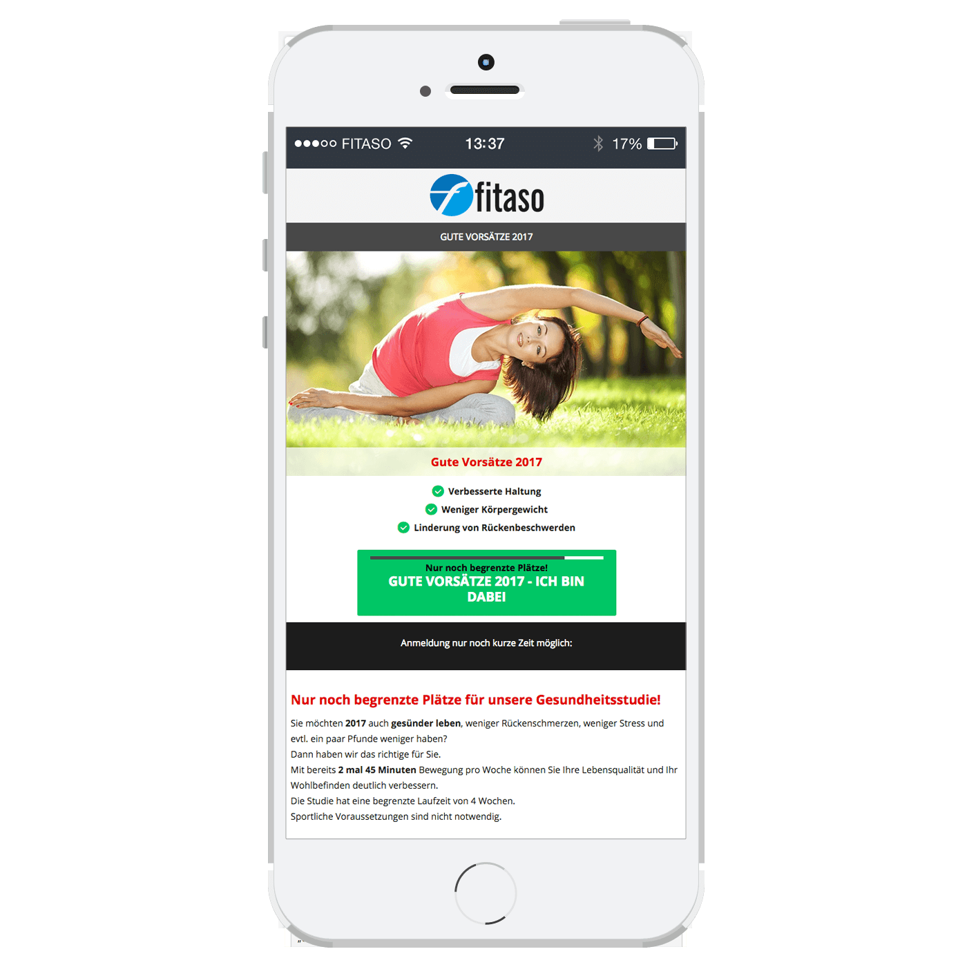 fitaso Landing Pages